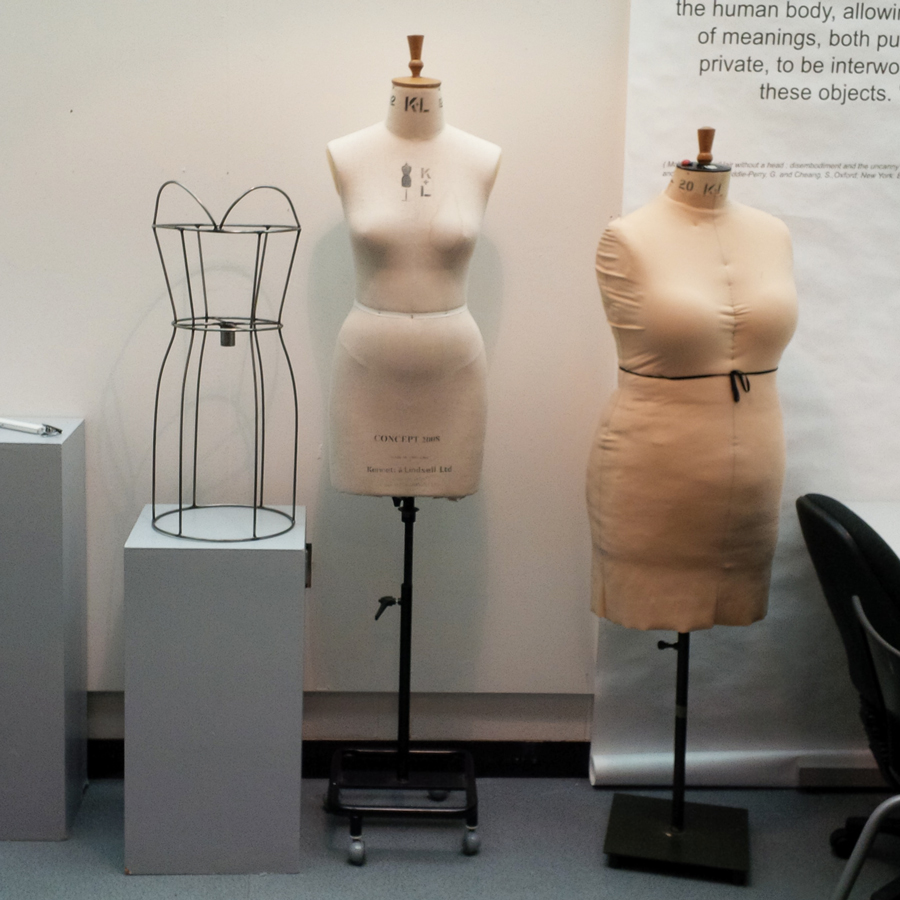 We share this part of the building with the Fashion Design students