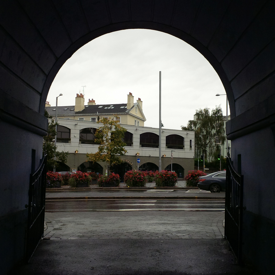 The entrance of the cemetery, from the other way