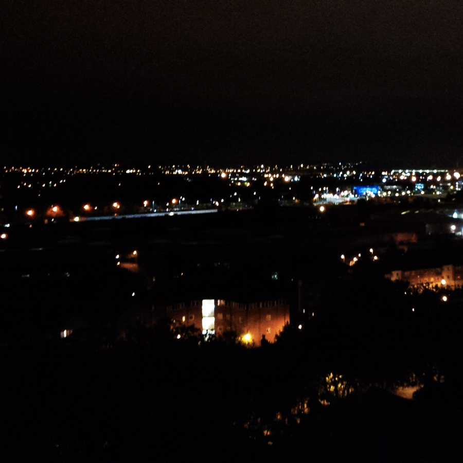 View from Nottingham Castle at night