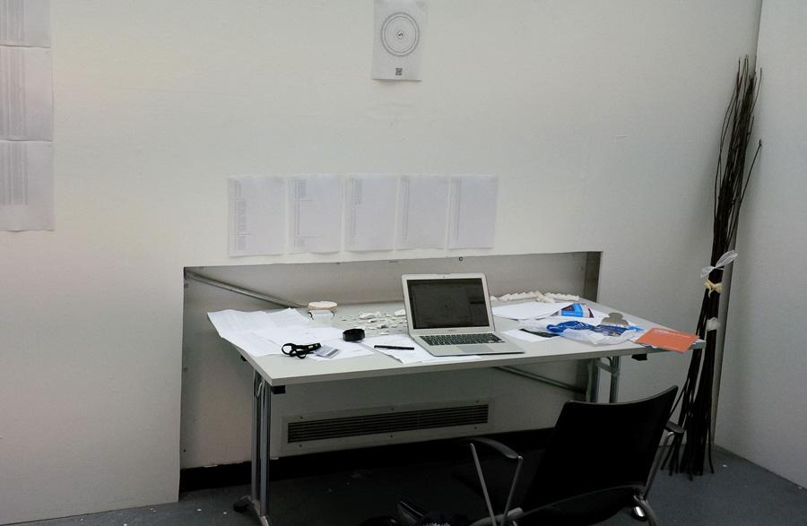 """""""My"""" desk in the MFA Studio"""