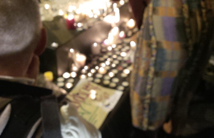 Nottingham Vigil for Paris, Beirut & Baghdad on November 16th