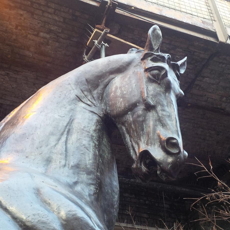Bronze sculpture in Camden Stables Market
