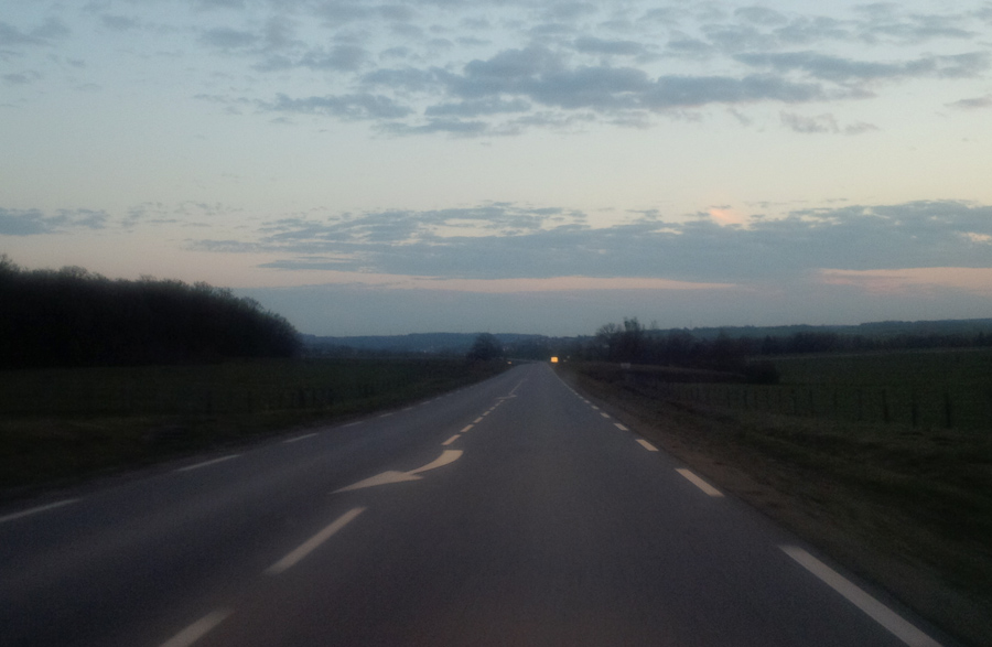 On the roads of France