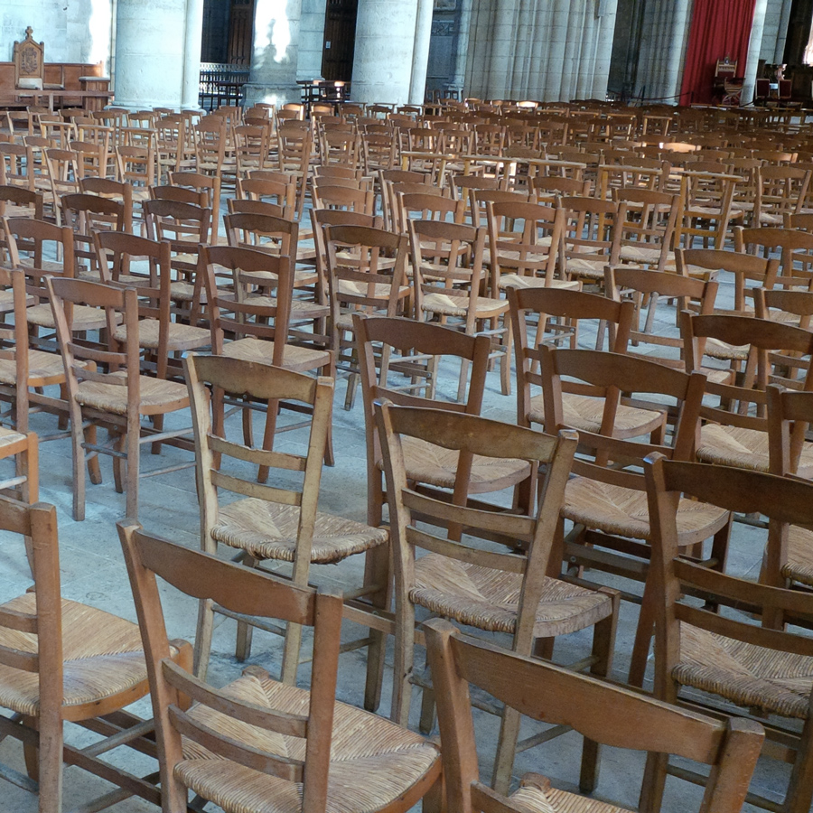 Seats in the cathedral
