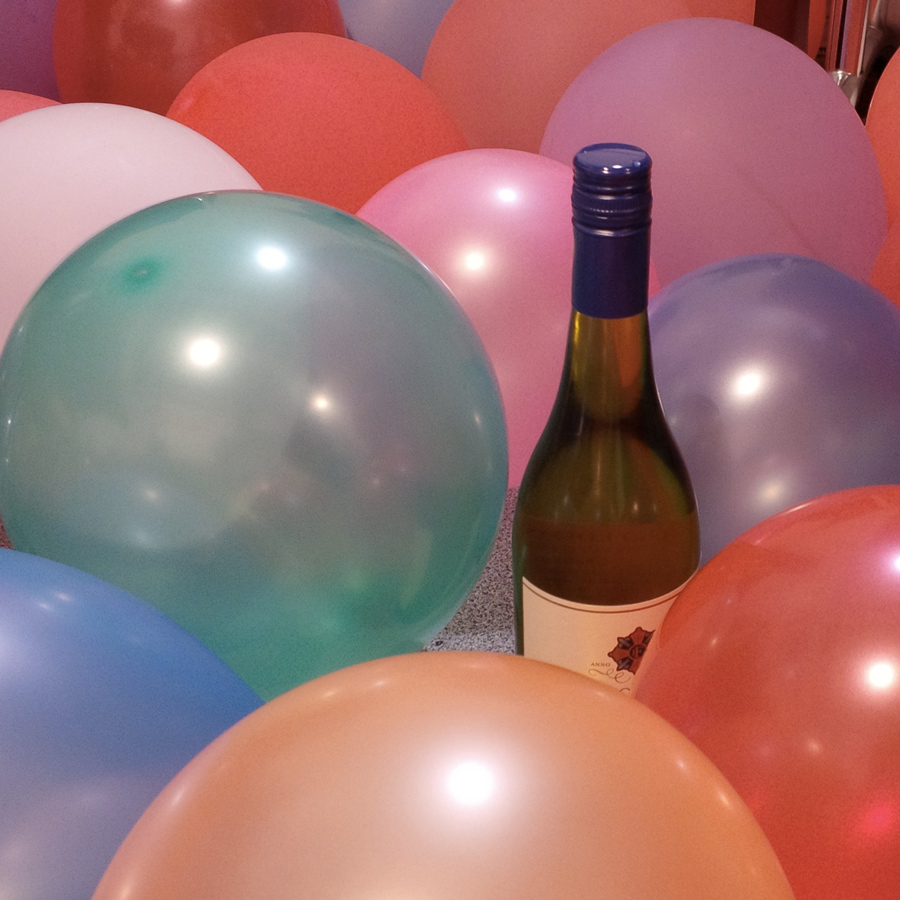 Wine and balloons