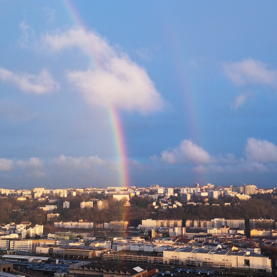 Rainbow over Lyon