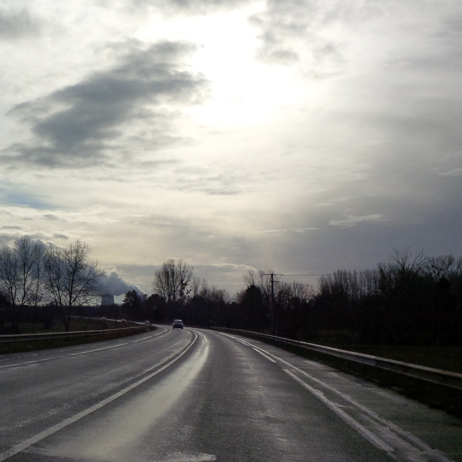 On the road somewhere around Gien