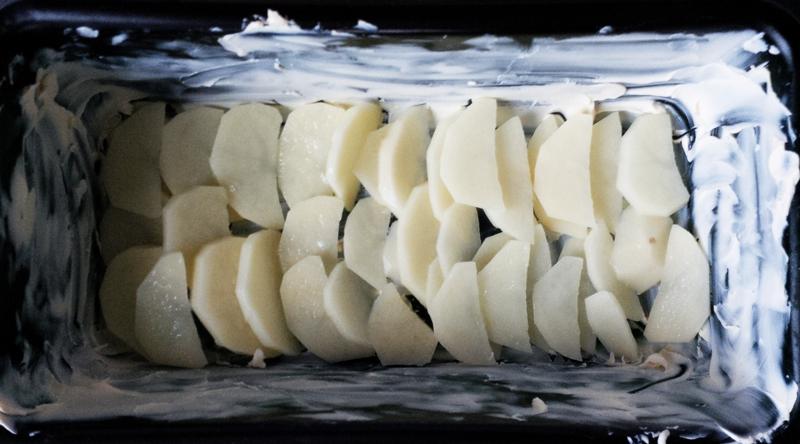 Layer 1: potatoes