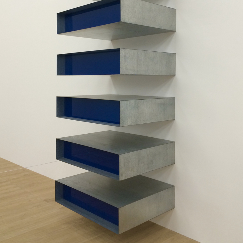"One of Donald Judd's ""Stack"""
